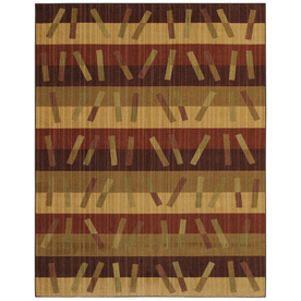 Mohawk Home Charleston Stripe 5-ft x 8-ft Rectangular Tan Transitional Area Rug
