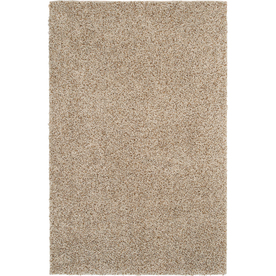 Mohawk Home Kodiak Buckskin Shag Ivory Rectangular Indoor Tufted Area Rug (Common: 5 x 8; Actual: 60-in W x 96-in L x 0.5-ft Dia)
