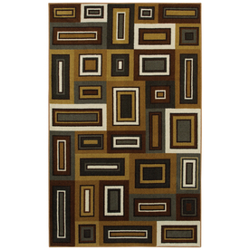 Mohawk Home Cooper Blocks Multi 60-in x 96-in Rectangular Yellow/Gold Transitional Area Rug