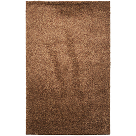 Mohawk Home Kodiak Hazel Gold Shag Brown Rectangular Indoor Tufted Throw Rug (Common: 2 x 3; Actual: 24-in W x 40-in L x 0.5-ft Dia)