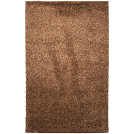 Mohawk Home Kodiak Hazel Gold Shag Brown Rectangular Indoor Tufted Area Rug (Common: 8 x 10; Actual: 96-in W x 120-in L x 0.5-ft Dia)
