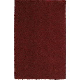 Mohawk Home Kodiak Rusty Red Shag Red Rectangular Indoor Tufted Throw Rug (Common: 2 x 3; Actual: 24-in W x 40-in L x 0.5-ft Dia)