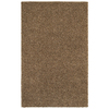 Mohawk Home Kodiak Peanut Patch Shag Brown Rectangular Indoor Tufted Throw Rug (Common: 2 x 3; Actual: 24-in W x 40-in L x 0.5-ft Dia)