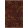 Mohawk Home Alcott Rust 63-in x 94-in Rectangular Red/Pink Transitional Area Rug