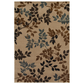 Mohawk Home Alcott Oyster 96-in x 132-in Rectangular Cream/Beige/Almond Transitional Area Rug