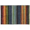 Mohawk Home Carnival Stripe Blue Rectangular Indoor Tufted Throw Rug (Common: 2 x 4; Actual: 30-in W x 46-in L x 0.5-ft Dia)