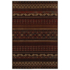 Mohawk Home Cedar Run Dark Brown 63-in x 94-in Rectangular Red/Pink Transitional Area Rug