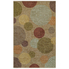 Mohawk Home Hudson Circles 5-ft x 8-ft Rectangular Beige Geometric Area Rug