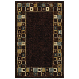 Mohawk Home Lookout Squares 5-ft x 8-ft Rectangular Tan Transitional Area Rug