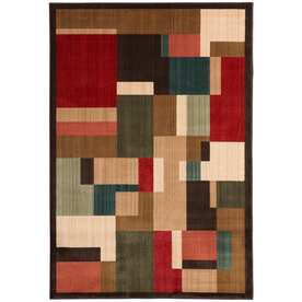 Mohawk Home Patton Lt Dark Brown 63-in x 94-in Rectangular Red/Pink Transitional Area Rug