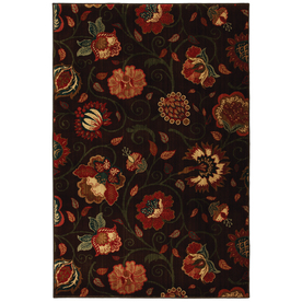 Mohawk Home Eason Dark Brown 120-in x 156-in Rectangular Brown/Tan Floral Area Rug
