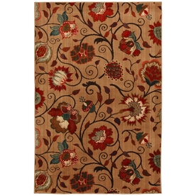 Mohawk Home Eason Md Beige 120-in x 156-in Rectangular Cream/Beige/Almond Floral Area Rug