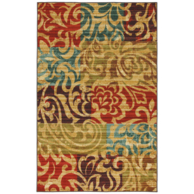 Mohawk Home Select Canvas Bangkok 60-in x 96-in Rectangular Red/Pink Transitional Area Rug