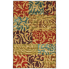 Mohawk Home Select Canvas Bangkok 96-in x 120-in Rectangular Red/Pink Transitional Area Rug