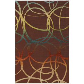 Mohawk Home Select Strata Acrobatic Brown Rectangular Indoor Woven Area Rug (Common: 5 x 8; Actual: 60-in W x 96-in L x 0.5-ft Dia)