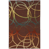 Mohawk Home Select Strata Acrobatic 60-in x 96-in Rectangular Brown/Tan Transitional Area Rug