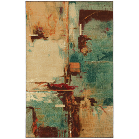 Mohawk Home 8-ft x 10-ft Aqua Fusion Select Strata Area Rug