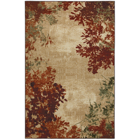 Mohawk Home Select Strata Valence Rectangular Orange Transitional Woven Area Rug (Common: 5-ft x 8-ft; Actual: 5-ft x 8-ft)
