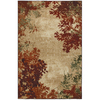 Mohawk Home Select Strata Valence 96-in x 120-in Rectangular Orange/Peach/Apricot Transitional Area Rug