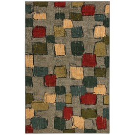 Mohawk Home Select Strata Night Vision Blue Rectangular Indoor Woven Area Rug (Common: 5 x 8; Actual: 60-in W x 96-in L x 0.5-ft Dia)