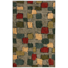 Mohawk Home Select Strata Night Vision Blue Rectangular Indoor Woven Area Rug (Common: 8 x 10; Actual: 96-in W x 120-in L x 0.5-ft Dia)