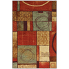 Mohawk Home Select Strata Loose Ends 96-in x 120-in Rectangular Orange/Peach/Apricot Transitional Area Rug