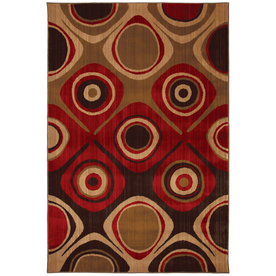 Mohawk Home Select Kaleidoscope Danger Zone Red Red Rectangular Indoor Woven Area Rug (Common: 8 x 11; Actual: 96-in W x 132-in L x 0.5-ft Dia)