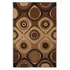 Mohawk Home Select Kaleidoscope Danger Zone Beige 63-in x 94-in Rectangular Brown/Tan Transitional Area Rug