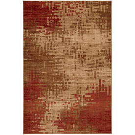 Mohawk Home Select Kaleidoscope Inferno Red Rectangular Red Transitional Woven Area Rug (Common: 5-ft x 8-ft; Actual: 5.25-ft x 7.83-ft)