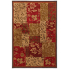 Mohawk Home Select Kaleidoscope Patchwork Brocade 63-in x 94-in Rectangular Red/Pink Transitional Area Rug