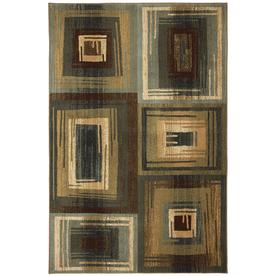 Mohawk Home Select Cambridge Vibration Blue Rectangular Blue Transitional Woven Area Rug (Common: 8-ft x 11-ft; Actual: 8-ft x 11-ft)