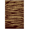 Mohawk Home Select Cambridge Forbidden Entry 63-in x 94-in Rectangular Brown/Tan Transitional Area Rug