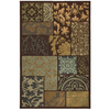Mohawk Home Select Cambridge Lazio 63-in x 94-in Rectangular Brown/Tan Transitional Area Rug