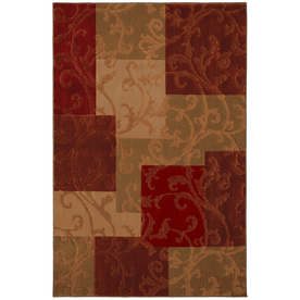 Mohawk Home Select Pembroke Florentino 5-ft 3-in x 7-ft 10-in Rectangular Red Transitional Area Rug