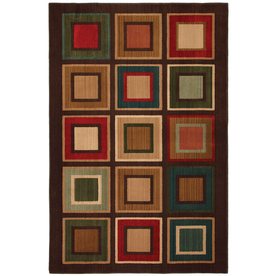 Mohawk Home Select Kensington City Center 5-ft 3-in x 7-ft 10-in Rectangular Green Transitional Area Rug