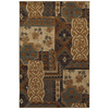 Mohawk Home Select Versailles Royal Entrance Blue Brown Rectangular Indoor Woven Area Rug (Common: 5 x 8; Actual: 63-in W x 94-in L x 0.5-ft Dia)