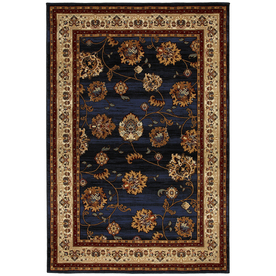 Mohawk Home Select Versailles Orient Express Rectangular Blue Transitional Woven Area Rug (Common: 8-ft x 11-ft; Actual: 96-in x 132-in)