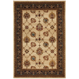 Mohawk Home Select Versailles Istanbul Ivory Rectangular Indoor Woven Area Rug (Common: 8 x 11; Actual: 96-in W x 132-in L x 0.5-ft Dia)