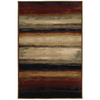 Mohawk Home Select Versailles Skyways Black 63-in x 94-in Rectangular Red/Pink Transitional Area Rug