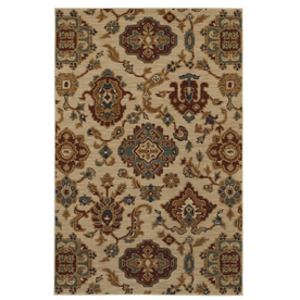 Mohawk Home Select Versailles Costa Rica Beige 96-in x 132-in Rectangular Cream/Beige/Almond Transitional Area Rug