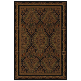 Mohawk Home Raymond Waites Royal Kingdom Black Rectangular Indoor Woven Area Rug (Common: 5 x 8; Actual: 63-in W x 94-in L x 0.5-ft Dia)