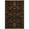 Mohawk Home Decorator'S Choice Empress Garden 63-in x 94-in Rectangular Black Transitional Area Rug