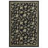 Mohawk Home Sampson Vines 5-ft x 8-ft Rectangular Black Transitional Area Rug