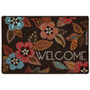 Style Selections 27-in x 18-in Multicolor Rectangle Door Mat