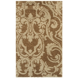 Mohawk Home Wilkshire Apple Butter Biscuit Brown Rectangular Indoor Tufted Area Rug (Common: 8 x 10; Actual: 96-in W x 120-in L x 0.5-ft Dia)