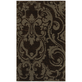 Mohawk Home Wilkshire Mink Lichen Brown Rectangular Indoor Tufted Area Rug (Common: 5 x 8; Actual: 60-in W x 96-in L x 0.5-ft Dia)