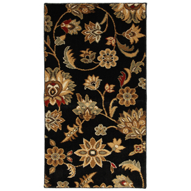 Mohawk Home Blackbourne Black Rectangular Indoor Woven Throw Rug (Common: 2 x 4; Actual: 25-in W x 44-in L x 0.5-ft Dia)