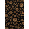 Mohawk Home Blackbourne Black 63-in x 94-in Rectangular Black Floral Area Rug