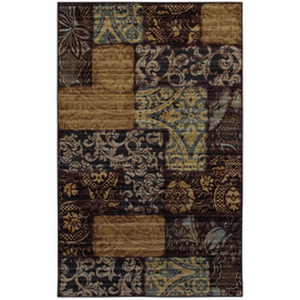 Mohawk Home Heritage Patchwork 5-ft x 8-ft Rectangular Tan Transitional Area Rug