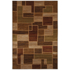 Mohawk Home Arcade Abstract Multi 63-in x 94-in Rectangular Brown/Tan Geometric Area Rug